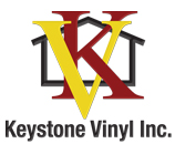 Keystone Vinyl Logo with K and V intertwined over a house