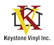 Keystone Vinyl Logo with interlaced K and V on a house