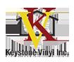 Keystone Vinyl Logo with interlaced K and V on a house
